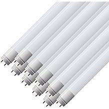 10 piezas - 61023 - Zone LED - Tubo led 120cm - T8 casquillo G13 - 18W (equivalente a 36W tubo de gas) - Luz Blanco Frío 6000K - Flujo luminoso 1600lm - Ángulo de haz 160° - Procesamiento de color (IRC > 80)