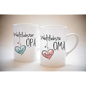 Weltliebste OMA & OPA - Tassen Set ODER einzeln- individuell, personalisierbar, Geschenk, Weihnachtsgeschenk, Großeltern
