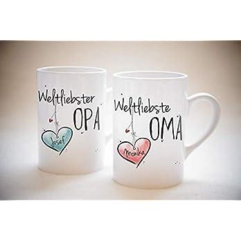 Weltliebste OMA & OPA – Tassen Set ODER einzeln- individuell, personalisierbar, Geschenk, Weihnachtsgeschenk, Großeltern