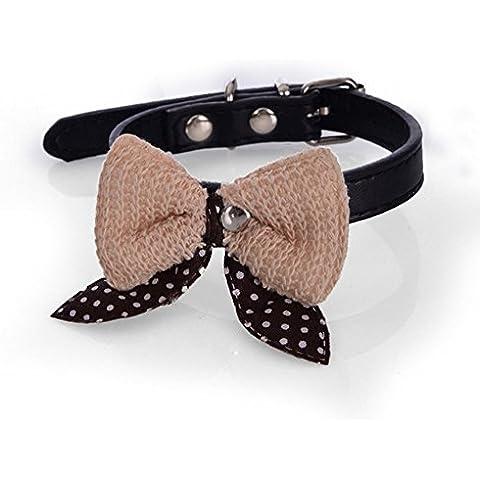 OUMOSI–Knit Bowknot regolabile in pelle PU cucciolo