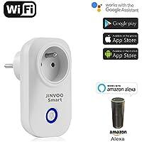 JinvooSmart Compatible avec Amazon Alexa Echo Wi-FI Plug Power Wireless Home Appliance Automatisation App Télécommande Minuteur Switch Wall l'ue