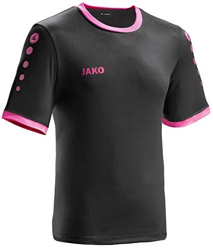 JAKO leichtes Team-Trikot schwarz-pink Unisex für Kinder Größe 164 Casual oder Sport Shirt super Jungen und Mädchen (Einheitliche Für T-shirt Mädchen)