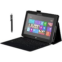 Zeadio? Premium Funda de Cuero con soporte para Microsoft Surface Pro 2 (10.6 Inch) Tableta - Negro