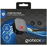Gioteck - Starter Pack: Cargador, USB, HDMI 4K, 2 Grips (PlayStation 4)