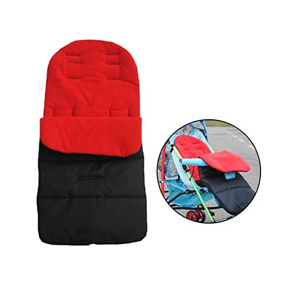 DENGHENG Multi-Function Baby Stroller Sleeping Bag Children Kids Trolley Thickened Swaddl DENGHENG ❤ Baby carriage sleeping bag, Multi-functional universal stroller sleeping bag. ❤ Made of high quality oxford and fleece, it is warm, windproof and waterproof. ❤ Removable, easy to clean, adjustable, adjust the position according to your baby's length. 5