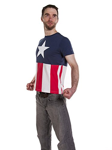 Uomo Capitan America Marvel Costume T Shirt