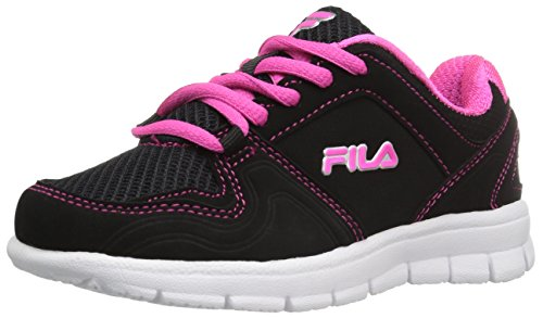Fila3SR20851 - Speed Runner Unisex-Kinder, Schwarz (Black/Pink Glo/Metallic Silver), 17 EU M Kleines Art (Fila Schuhe Baby)