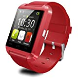 Generic U reloj inteligente reloj U80Bluetooth 3.0pulsera de silicona para Apple iOS Smartphone iPhone 4/4S/5/5C/5S/6Android Samsung S2/S3/S4/Nota 2/3Nota HTC Huawei