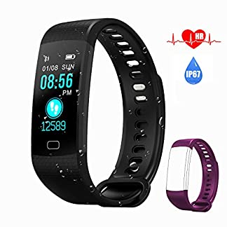 AK1980 Fitness Tracker Watch with Heart Rate Monitor Sleep Monitor Smartwatch Step Tracker Calorie Counter Multi Exercise Modes, IP67 Waterproof Activity Tracker for Kids Women Men 9
