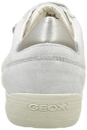 Geox D Myria B, Scarpe da Ginnastica Basse Donna Bianco (OFF WHITEC1002)