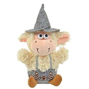 Oveja de Laber Willy con traje tradicional, aprox. 25,5 x 12 x 17,5 cm, peluche con función de grabación y reproducción, se mueve y se mueve con la cabeza, ideal para niños y niñas, como regalo.