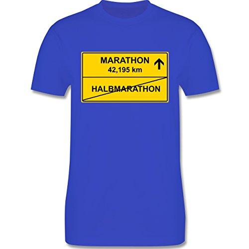 Laufsport - Marathon - Herren Premium T-Shirt Royalblau