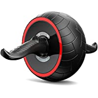 OMZBM AB Roller Wheel AB Carver Pro Roller Equipo De Ejercicios con Smart Brake Y Rebound Knee Pad para Abdominales Abdominal Core Fitness Entrenamientos De Entrenamiento para Hombres Y Mujeres