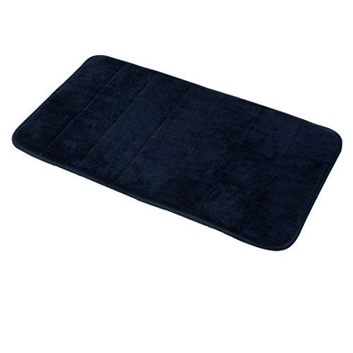 Carpemodo Schaumstoff Super Absorbierende Schnell Trocknende Badematte / Memory Foam / Größe: 40x70 cm / Farbe: Schwarz / groß geriffelt