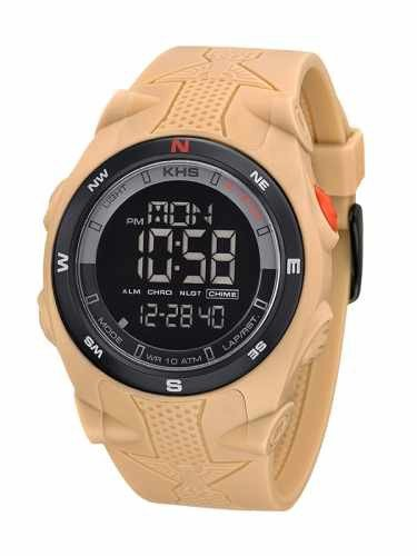KHS Tactical Mens Watch Sentinel DC Tan | Rubber Tan Chronograph KHS.SEDCT.S