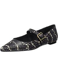 Cortefiel 3.T.BS. Bail. Mary JAN Serpiente, Zapatos para Mujer, Black, 40