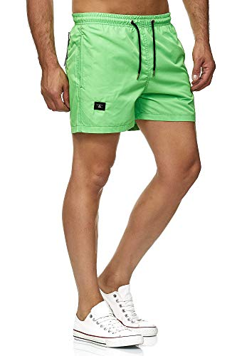 Red Bridge Herren Shorts Kurze Hose Badeshorts Schwimmhose Freizeit- Sport-Shorts Grün M - Grüne Jeans-shorts