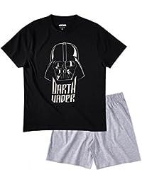 Star Wars-The Clone Wars Darth Vader Jedi Yoda Hombres Pijama mangas cortas - Negro