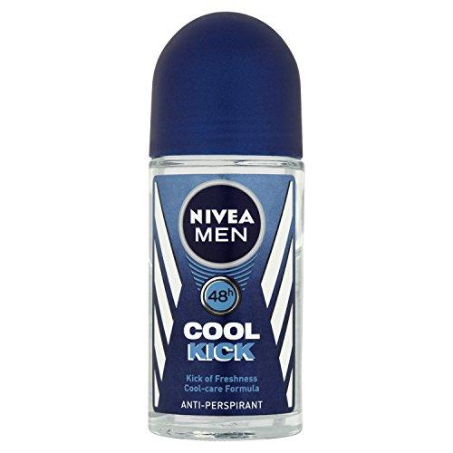 Uomini Nivea fredda calcio 48 ore anti-traspirante Deodorante Roll On 50 ml - Confezione da 6
