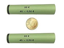 Münzhülsen für alle Münzen 1 Cent bis 2 Euro (50 Cent - 121 Stück)
