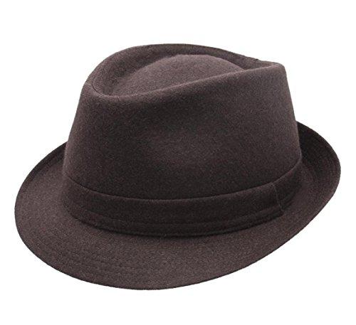 836bad07f42f3 Classic Italy - Sombrero trilby hombre Classic Trilby Feutre - talla 56 cm  - marron