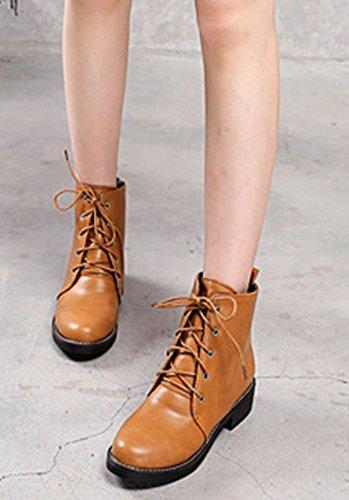 Ranger Desert Grosso Boots Donna Piccoli Stivali Bassi Moda Tacco Aisun Lacci Marrone ravvq0Zxw8
