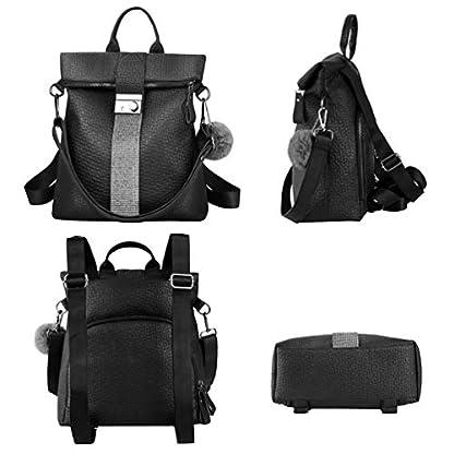 41xOHSzgo0L. SS416  - VBIGER Bolsos mochila mujer Antirrobo Mochila de Cuero PU Mano Mochilas Casual Bolsa Bandolera Messenger Bag Backpack