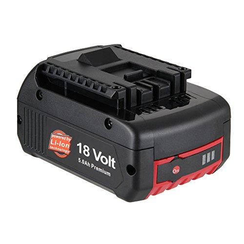 LYPULIGHT 18V 5,0mAh Li-ion Batterie de Replacement pour Bosch 1600A002U5 BAT609 BAT609G BAT618 BAT618G BAT610G BAT619G BAT619 1600A0