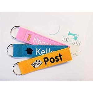 Schlüsselanhänger mit Namen/mit Name/Wunschname/Schlüsselband mit Wunschtext/mit Motiv aus Filz