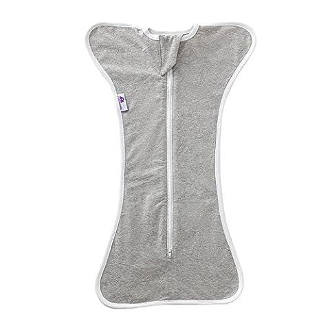 Comfortablebaby Sleepsack Coton nouveau-né d'emmaillotage deux Taille gris Nouveau-né
