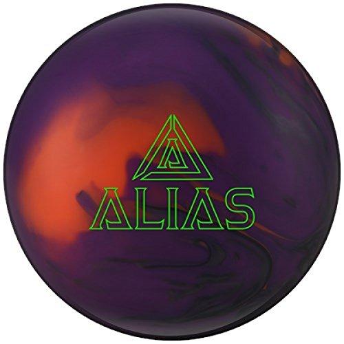 Track Alias High Performance Reaktiv Bowling-Ball Bowling-Kugel sehr vielseitig auf allen Konditionen mit EMAX Reiniger und Mikrofaserhandtuch Größe 13 LBS