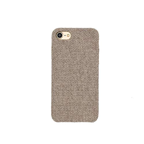 VIWIV Anwendbare iPhone Case Shell Stripe iPhone XS MAX Linen Shell 7/8plus Handy Shell 6s Herringbone Flannel Shell XR Protective Cover,Gray,iPhoneXR -