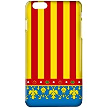 Funda carcasa bandera Comunidad Valenciana Senyera Valencia para Samsung Galaxy J1 J3 J5 J7 S3 S4 S5 S6 Edge+ S7 Note 2 3 4 5 A3 A5 A7 2016 plástico rígido