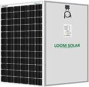 LOOM SOLAR Panel 375 watt - 24 Volt Mono PERC (Pack of 2), BIS Certified