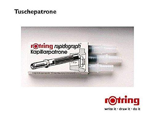 Kapillarpatrone für rotring Rapidograph Tuschefüller, schwarz, Packung à 3St.