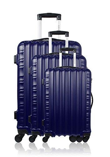 Manoukian Westminster Set de Bagages, 71 cm, 90 L, Bleu