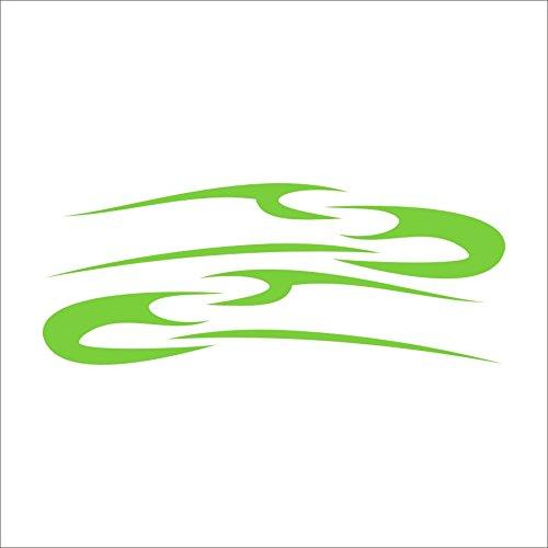 3093__LGRE Autoaufkleber Tribal lines ( Light Green) (Quad-scheibenaufkleber)