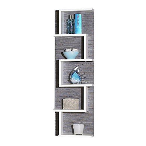 Schildmeyer 116540 Regal, 30 x 99 x 14 cm, weiß/esche grau Dekor