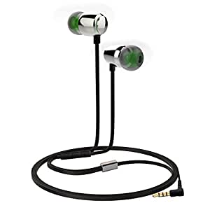 Sunorm Metal Earphone with Microphone and Volume Control (Green Earbuds)