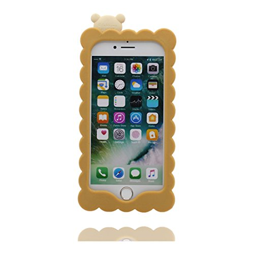 """iPhone 7 Plus (5.5 """") Coque, [ popcorn, pop-corn TPU Matériau Flexible ] Durable élégant étui, la poussière égratignures résistant, iPhone 7 Plus Case jaune 2"""