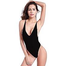shekini donne halter sexy di un pezzo backless costumi da bagno perizoma costume da bagno bikini