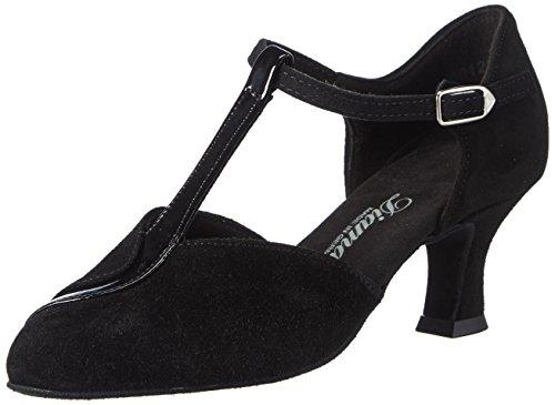 Diamant Diamant Damen Tanzschuhe 068-069-008, Chaussures de Danse de salon femme Noir - Noir
