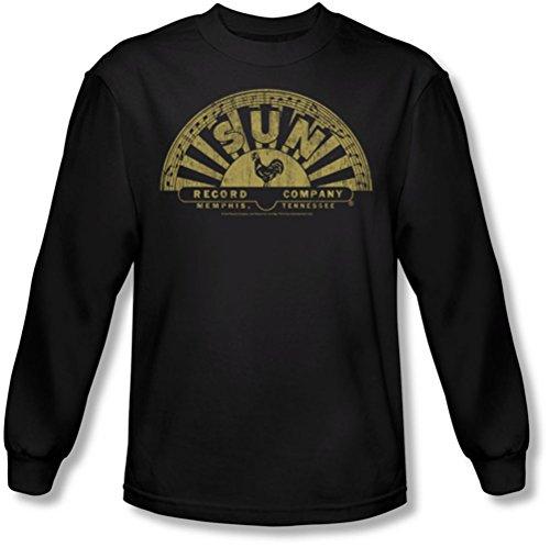 Sun - Männer Tattered Logo Langarm-Shirt in Schwarz Black