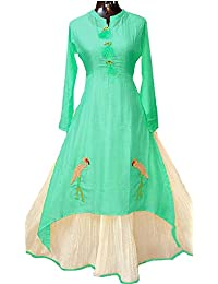Trendzvila's Women's Latest New Designer Fancy Party Ceremony Wear Todays Festival Low Price Offer In Blue Cotton...