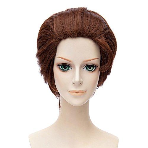 Cinderella Prinz Halloween Und Kostüme (Halloween Kostüm Charming Cinderella Prinz Cosplay Perücke Wig 30cm Kurze Braune Haare Zubehör für Männer)