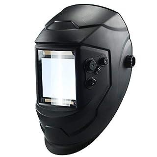 Solar Welding Helmet,Auto-Darkening Welders Helmet with 4 Weld Sensors,Welding Mask with Wide Shade Range,Best Optical Clarity(TX800H-K00)