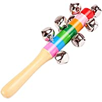 Ruikey 1pcs Bois Jouet Instrument Musical Pour Enfant Maracas Bois Jouet Instrument Musical Pour Enfant