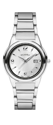 Roamer Swiss Elegance Women's Quartz Watch with Silver Dial Analogue Display and Silver Stainless Steel Bracelet 507844 41 15 50