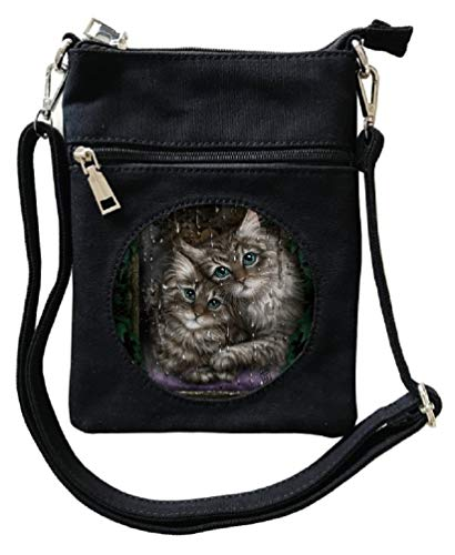 Mad By Design (Cat Mad Designs Linda Jones Handtasche für Damen, mit Katzen-Motiv)