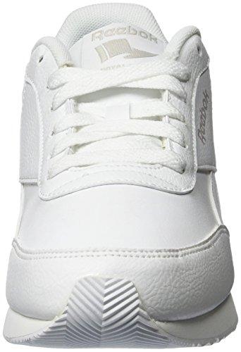 Reebok Royal Cl Jog 2l, Chaussures de Sport Garçon Blanc (White/White/Steel)